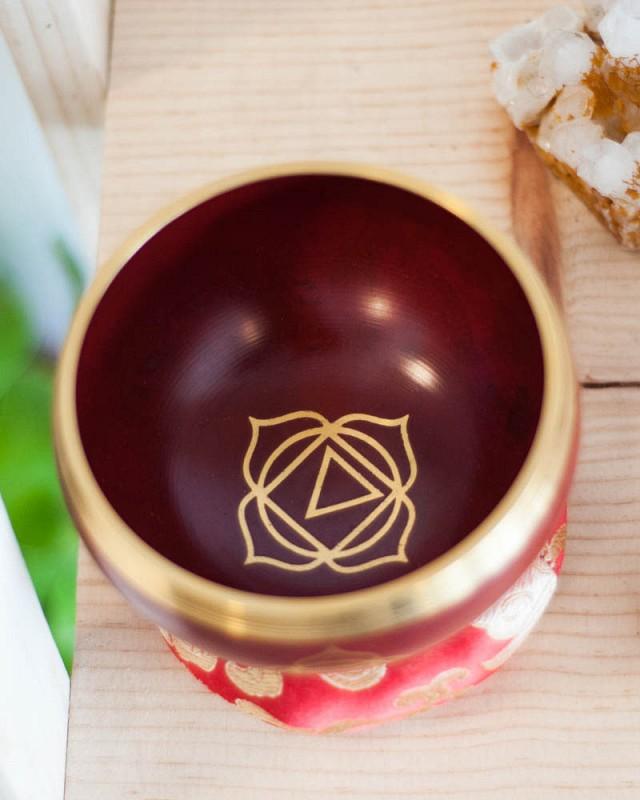 Root Chakra Singing Bowl - solid color