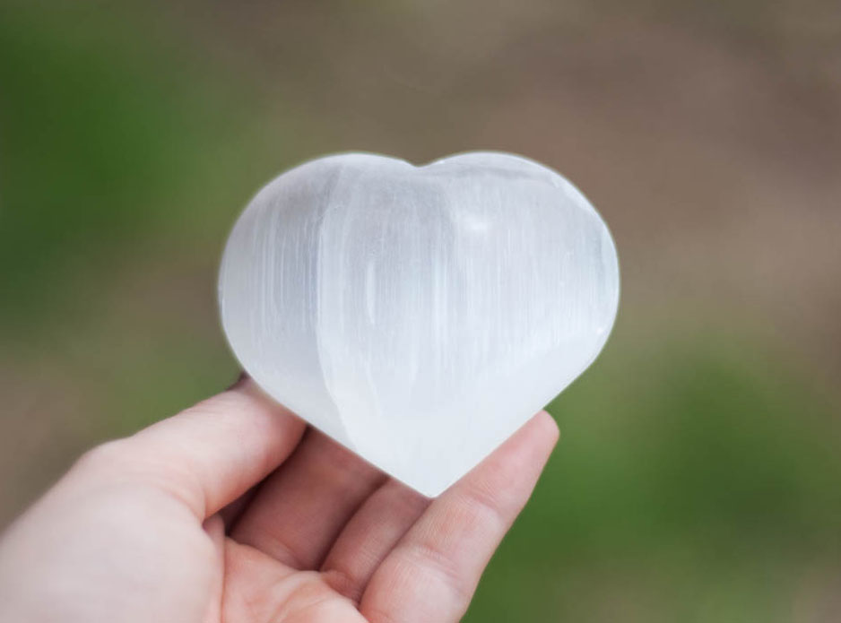 Selenite Heart large