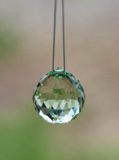 Swarovski Crystal 30mm Rainbow Maker Ball Light Green