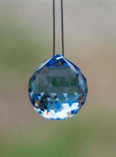 Swarovski Crystal 30mm Rainbow Maker Ball Blue