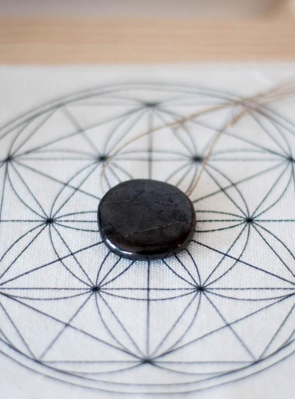 Shungite  Round Pendant