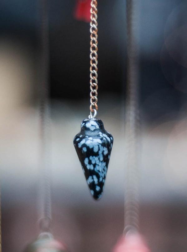 Snowflake Obsidian Pendulum