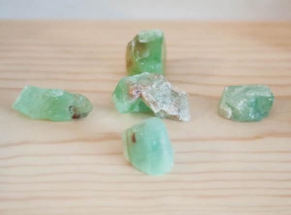 Raw Green Calcite - small