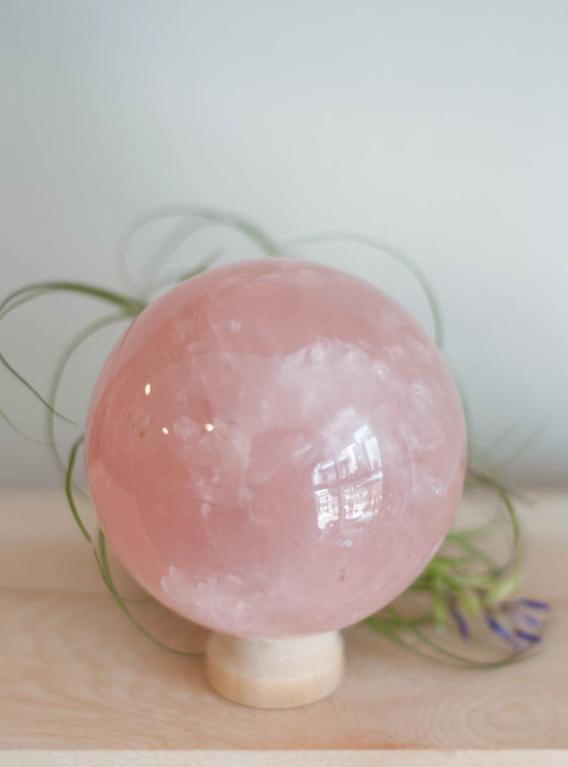 Star Rose Quartz Sphere #2