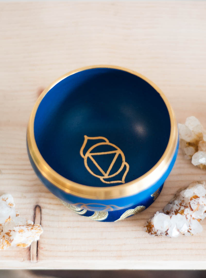 Third Eye Chakra Singing Bowl - solid color
