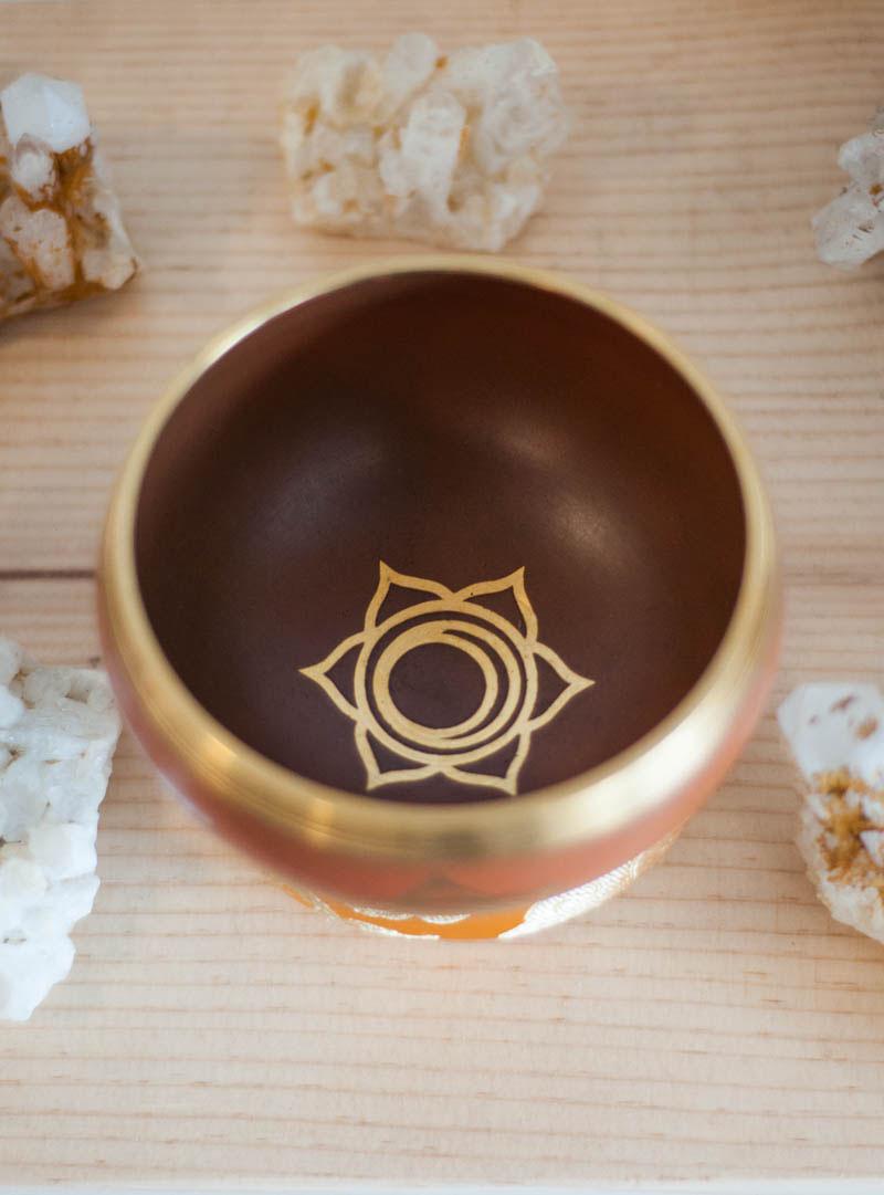 Sacral Chakra Singing Bowl - solid color