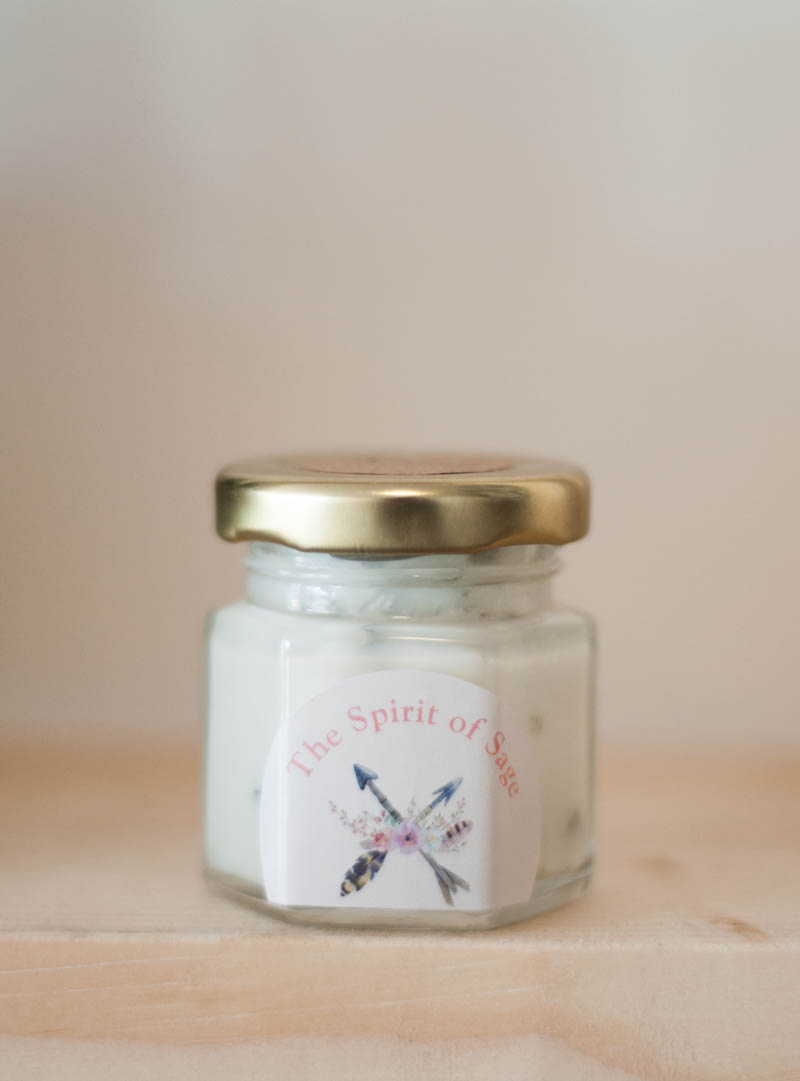 Handmade Small Sage Candle