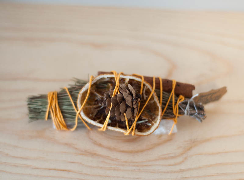Seasonal Pine and Selenite Bundle