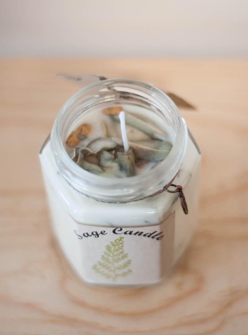 Handmade Sage Candle