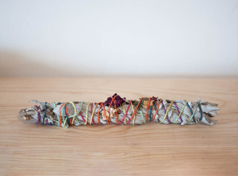 Large Sage Bundle with Herbs and Crystals