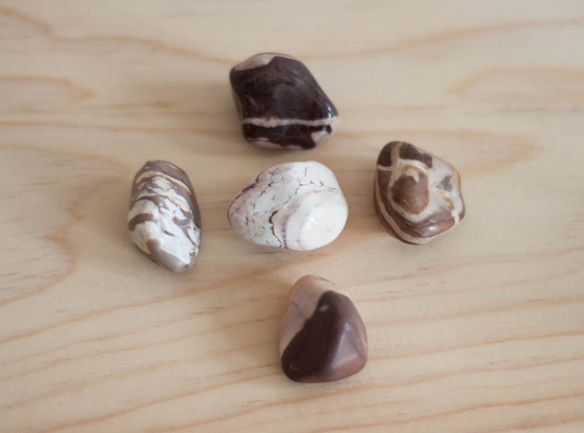 Tumbled Zebra Jasper Brown