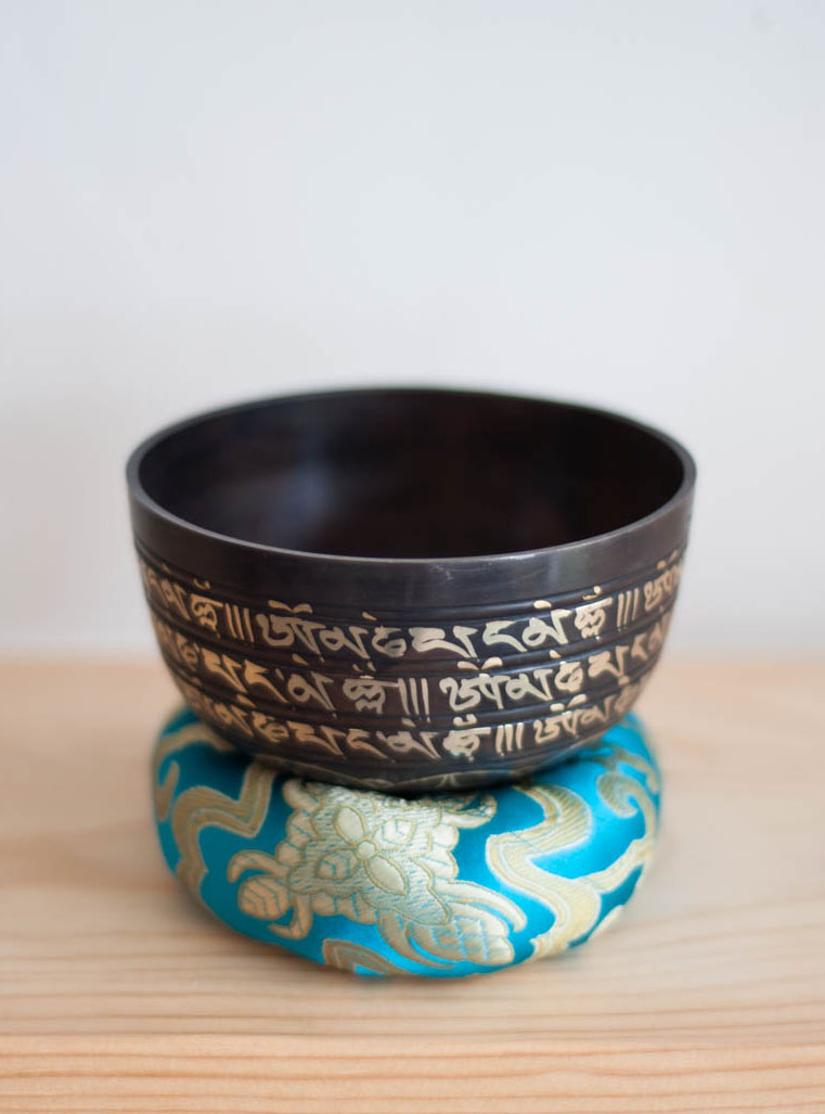 Solar Plexus Chakra Singing Bowl - ornate