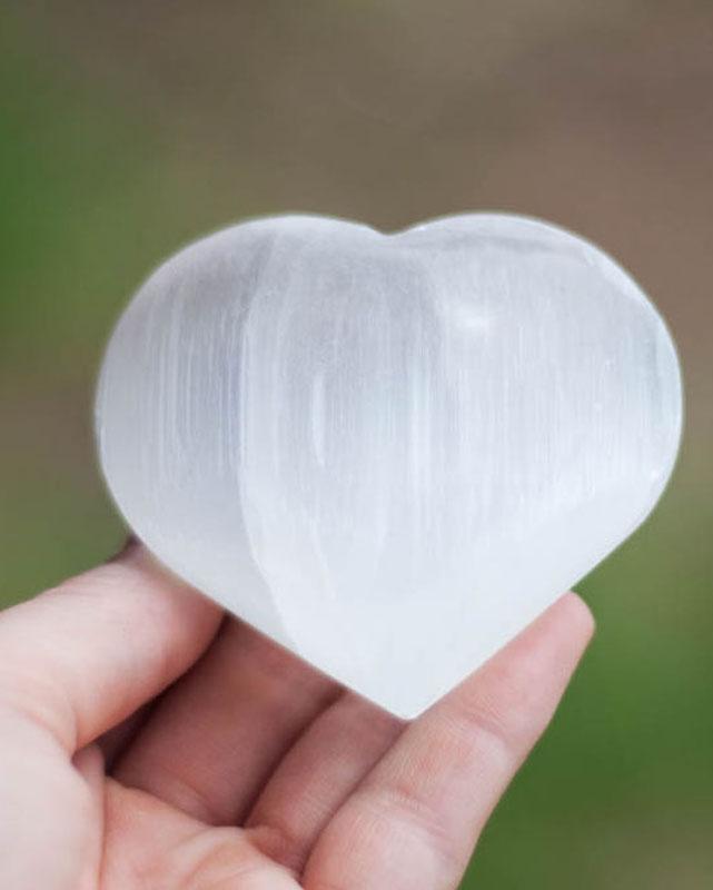 Selenite Heart large