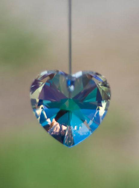 Swarovski Crystal 40mm Rainbow Maker Heart Aurora Borealis