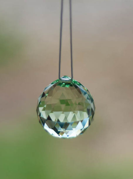 Swarovski Crystal 30mm Rainbow Maker Ball Light Green