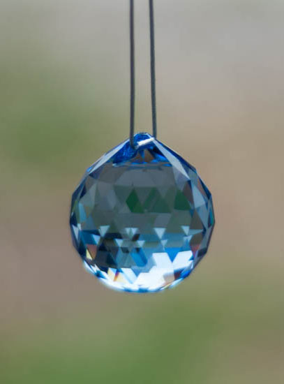Swarovski Crystal 30mm Rainbow Maker Ball Blue