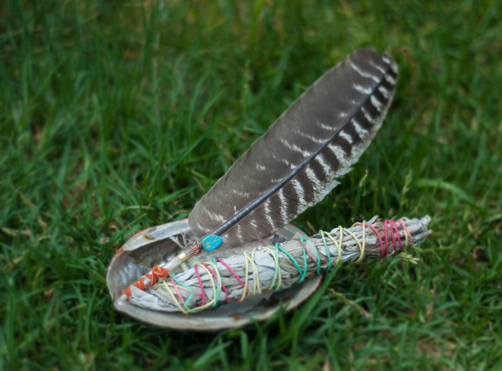 Small Smudging Set with Abalone Shell