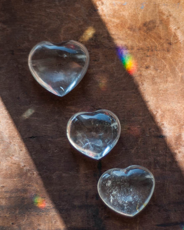 Clear Quartz Heart - medium