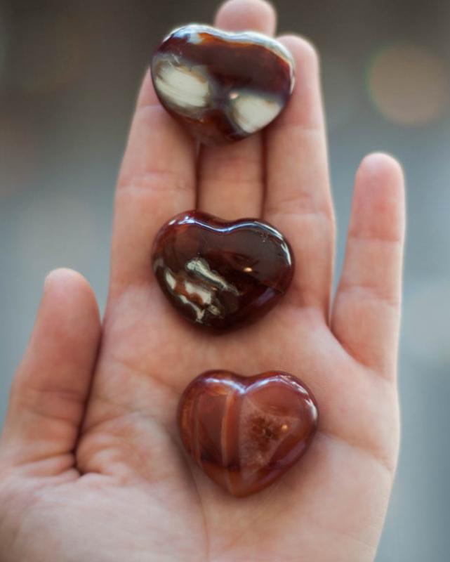Carnelian Heart Crystal - medium