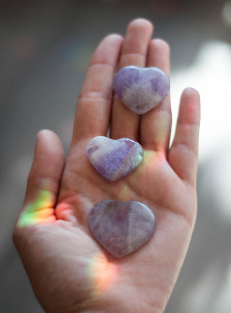 Amethyst Heart Crystal - small