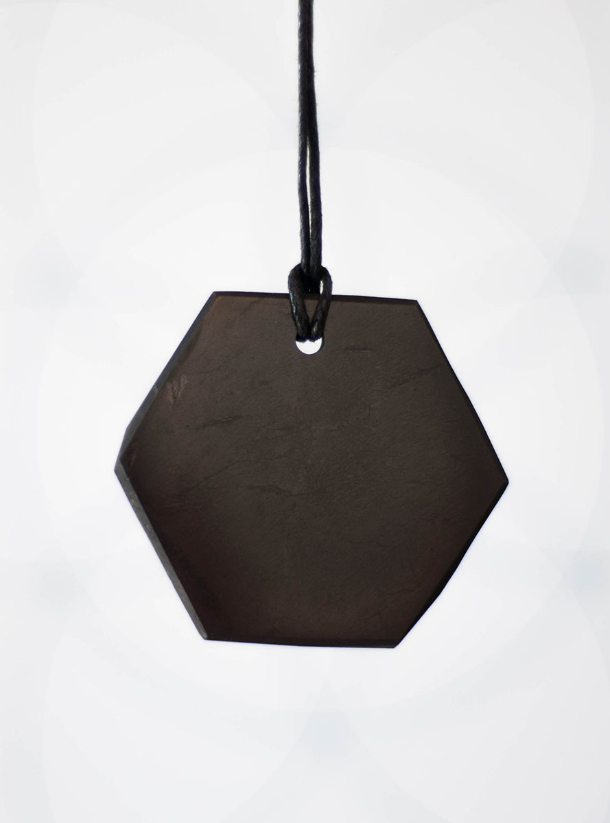 Shungite Hexagon Pendant