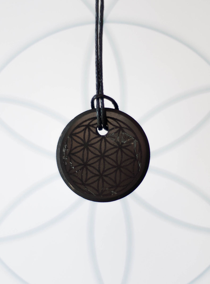 Shungite Flower of Life Pendant