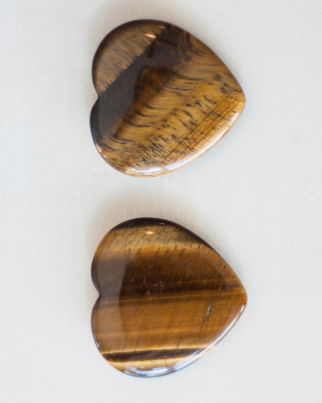 Tiger's Eye Heart