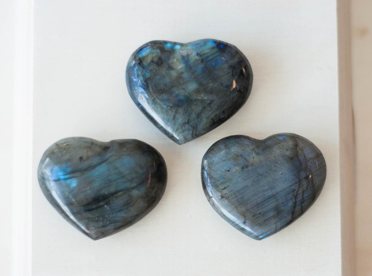 Labradorite Heart Medium