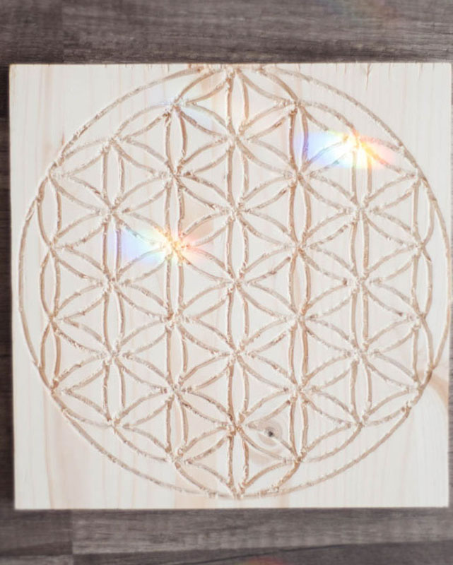 Flower of Life Crystal Grid Base