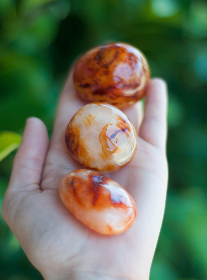 Carnelian Palm stone