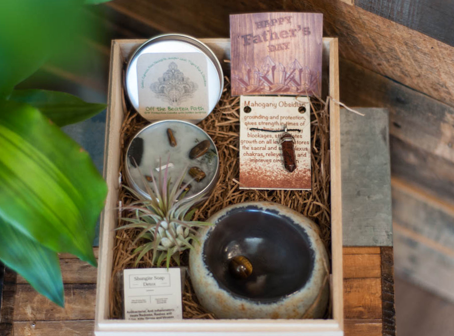 Father's Day Gift Set with Agate Bowl 1