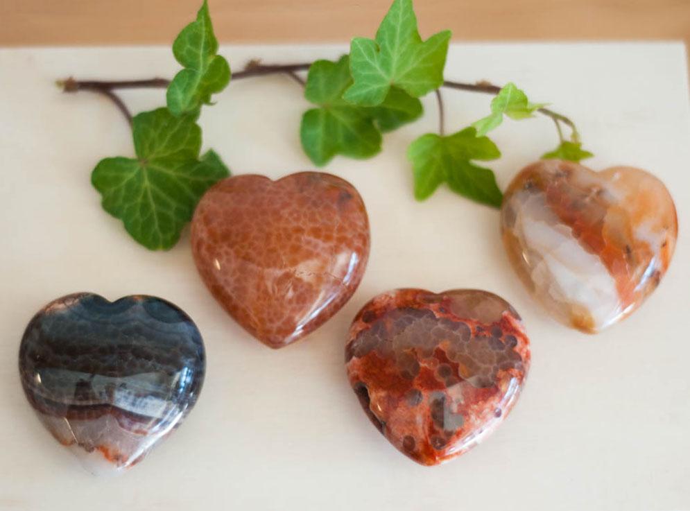 Snakeskin Agate Heart