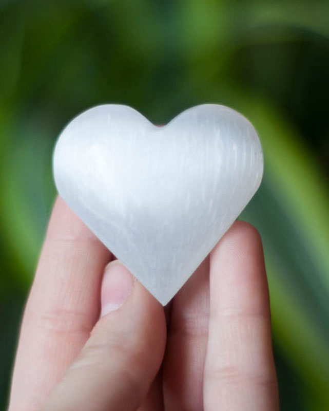 Selenite Heart small