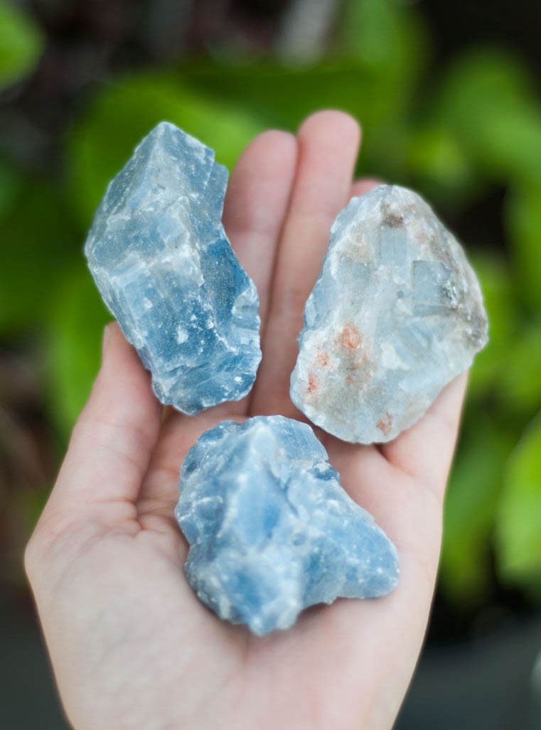 Raw Blue Calcite small