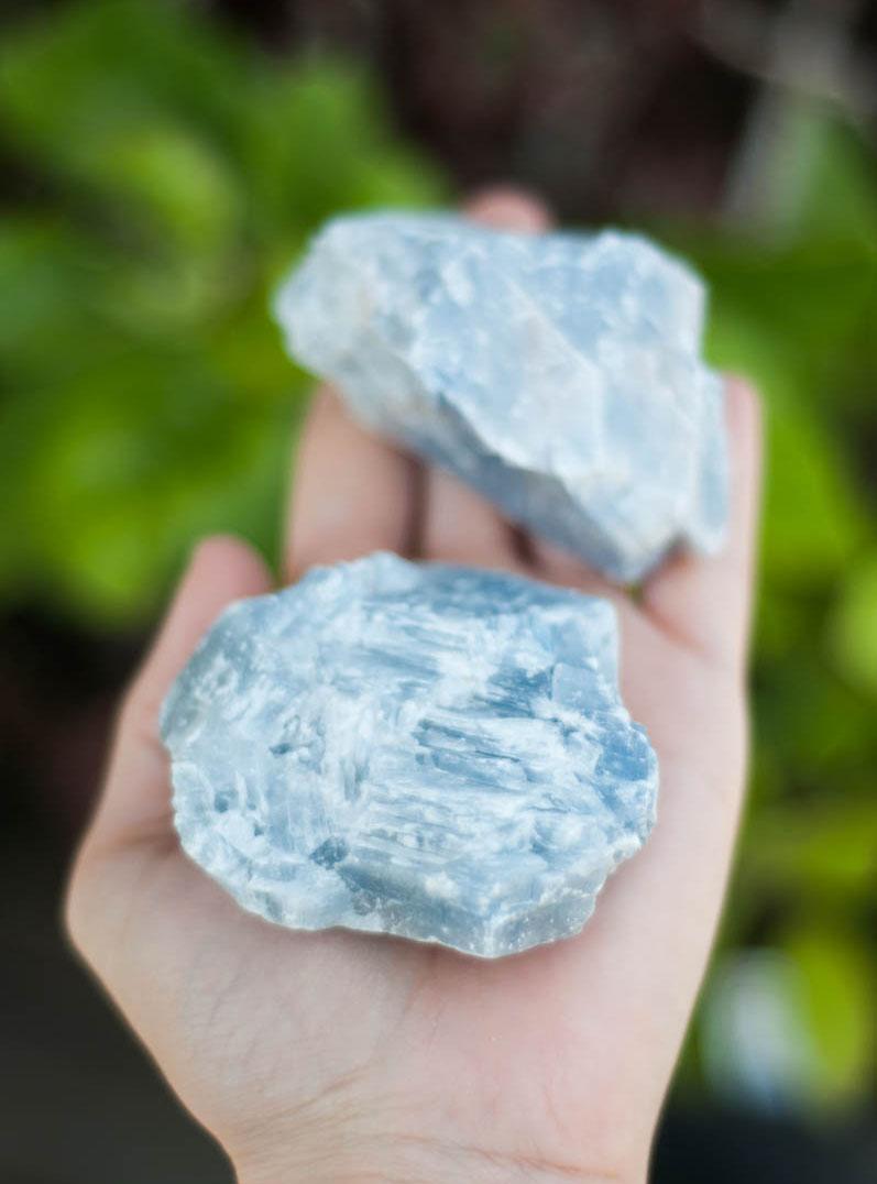 Raw Blue Calcite medium