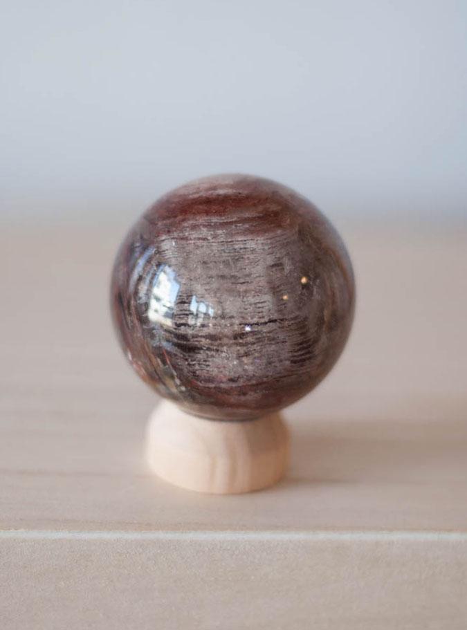 Amphibole Quartz Sphere #2