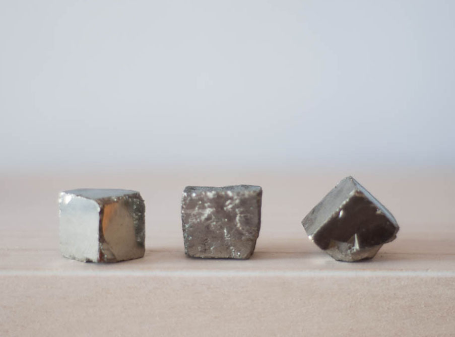 Raw Pyrite Cube medium