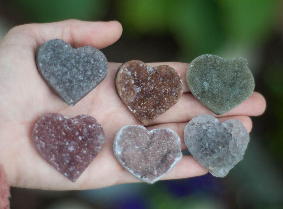 Uruguay Rainbow Amethyst Heart medium