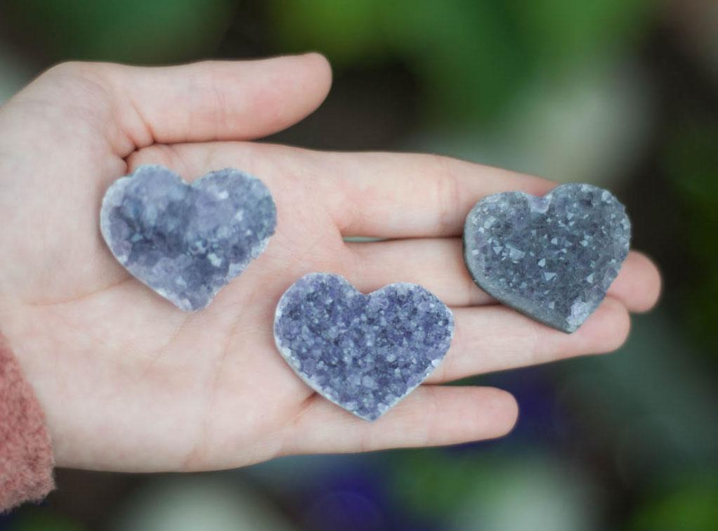 Uruguay Light Amethyst Heart small