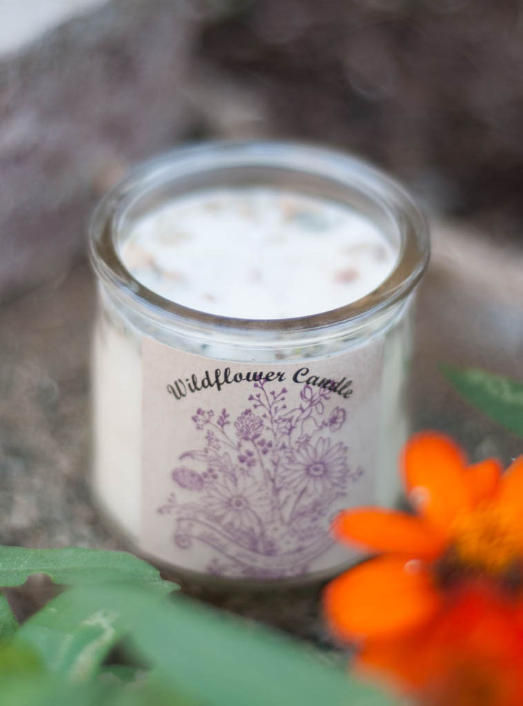 Upcycled Container Herbal Candle - Nag Champa