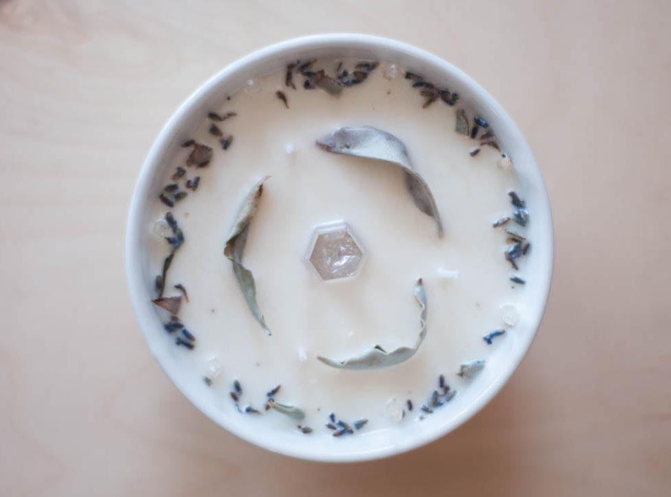 Large Sage and Lavender Candle