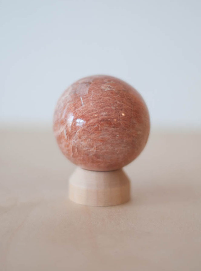 Peach Moonstone Sphere small