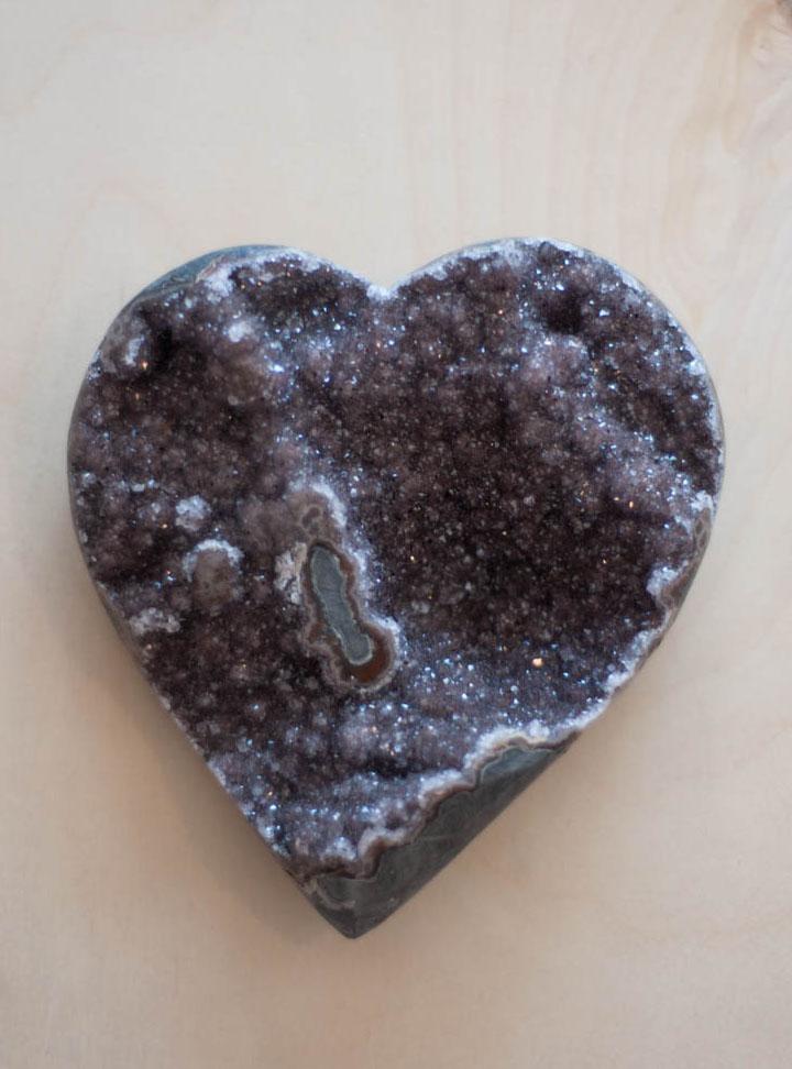 Uruguay Amethyst Geode Heart #1