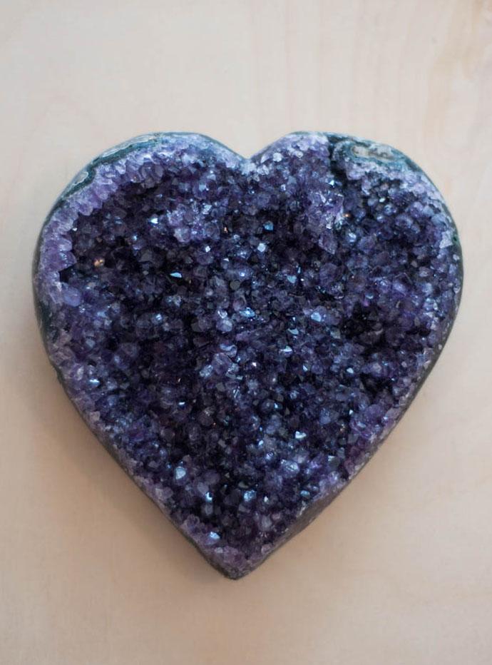 Uruguay Amethyst Geode Heart #4
