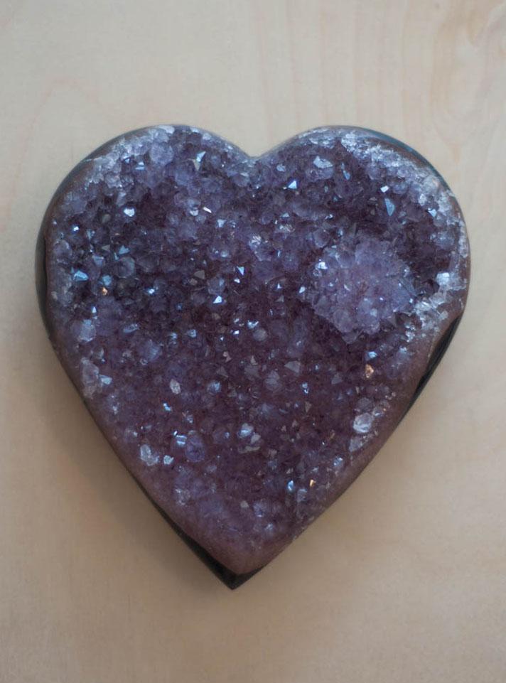 Uruguay Amethyst Geode Heart #5