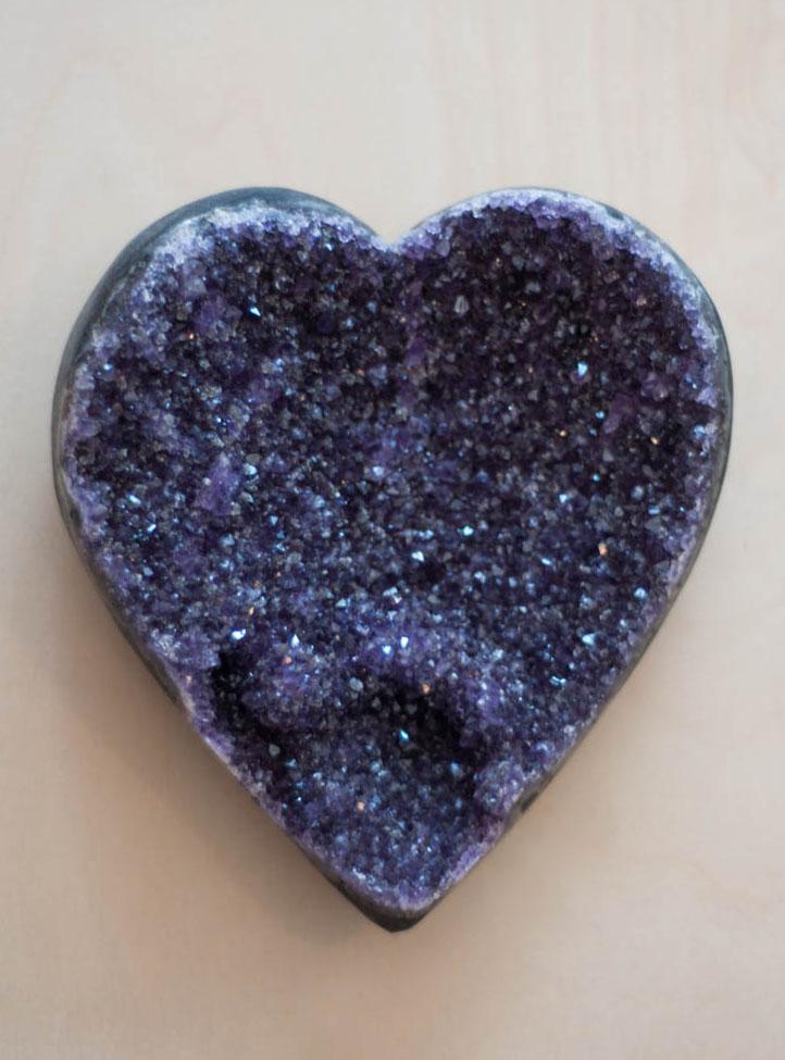 Uruguay Amethyst Geode Heart #7