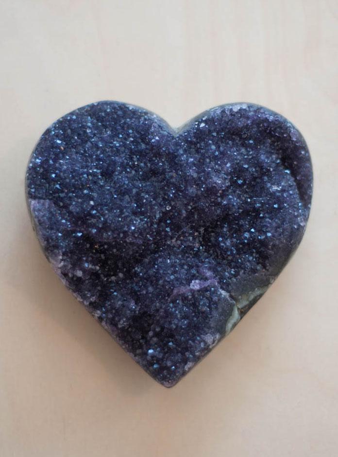 Uruguay Amethyst Geode Heart #10
