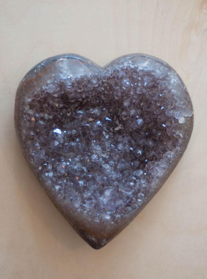 Uruguay Amethyst Geode Heart #12