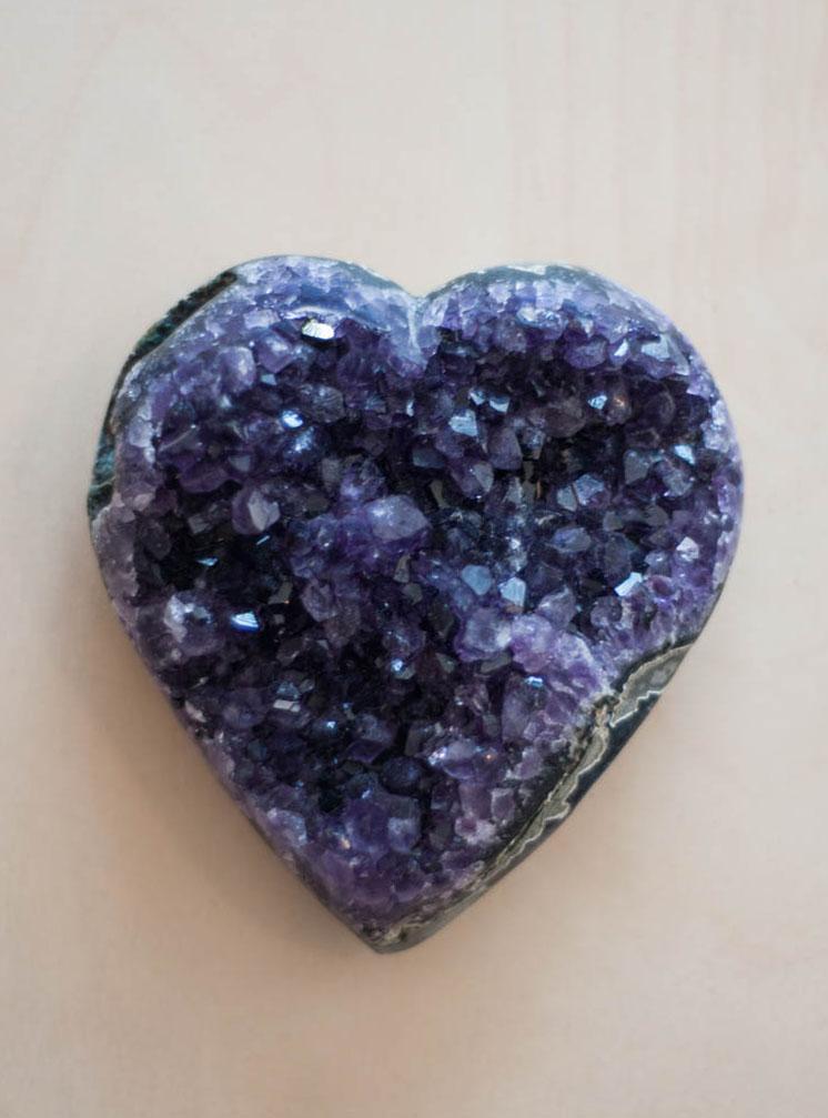 Uruguay Amethyst Geode Heart #13