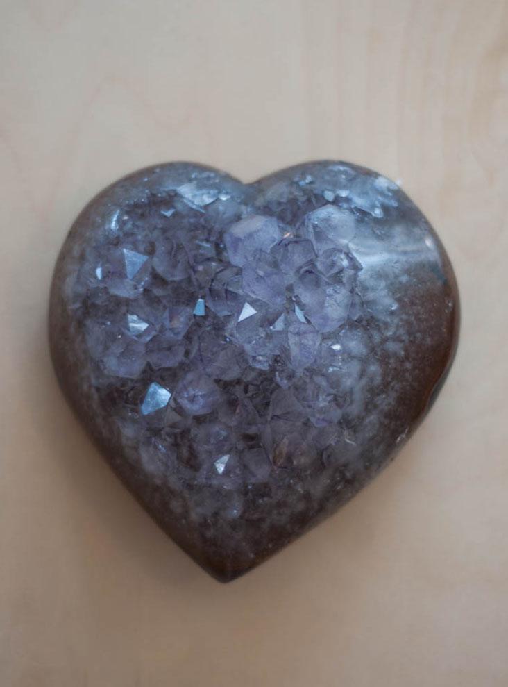 Uruguay Amethyst Geode Heart #14